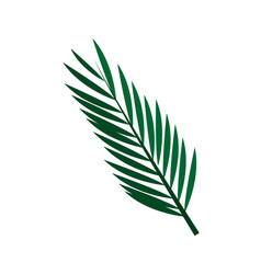 Green textured leaf icon image vector