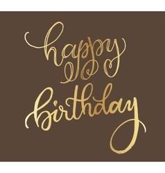 Happy birthday golden card design vector image vector image