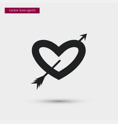 Heart icon simple romance element valentine vector