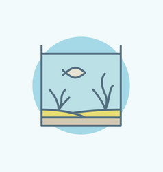 Home aquarium colorful icon vector