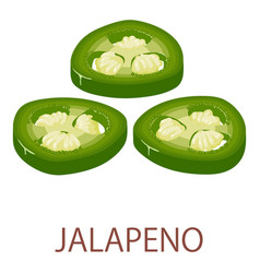 jalapeno icon isometric style vector image