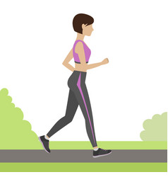Jogging girl vector