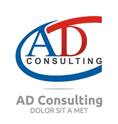 Letter ad consulting icon business vector