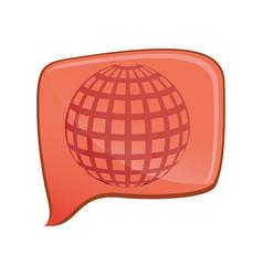 line globe icon symbol vector image vector image