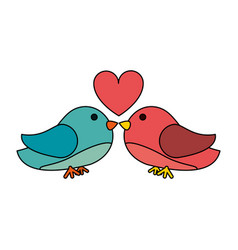 Lovebirds romance icon image vector