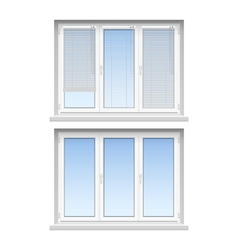 Plastic windows jalousies 2 realistic icons vector