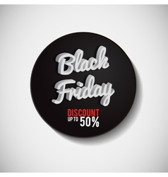 Poster black friday black-and-white background vector