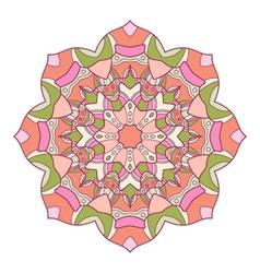 Round decorative ornament vector