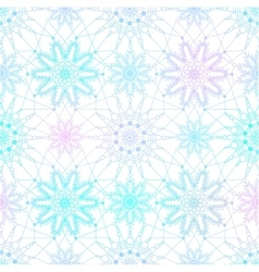Seamless pattern with blue snowflakes on white vector