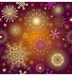 Seamless purple gradient christmas pattern vector image vector image