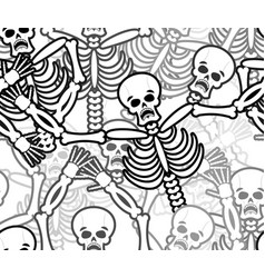 Sinners seamless pattern skeleton in hell vector