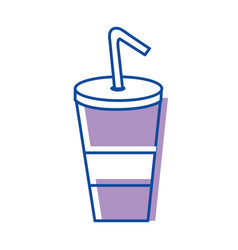 Soda with cigarette icon image vector