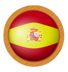 Spain flag flag on round badge vector