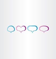 Speech bubbles frame set vector