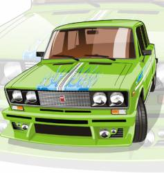 tuned car vector image