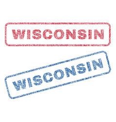 Wisconsin textile stamps vector