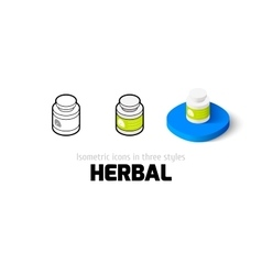 Herbal icon in different style vector