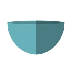 blue bowl utensil kitchen cooking vector image
