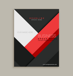 Minimal red and black business company brochure vector