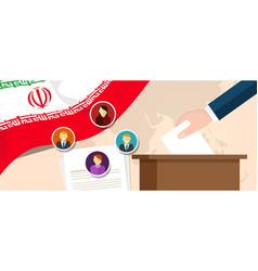 Iran democracy political process selecting vector