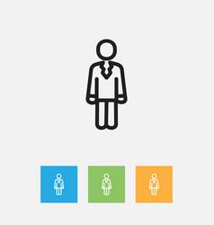 Of trade symbol on job person vector