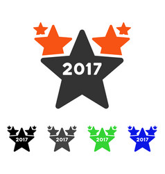 2017 star hit parade flat icon vector
