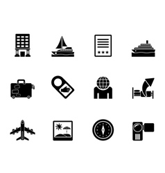 Silhouette vacation and holidays icon vector