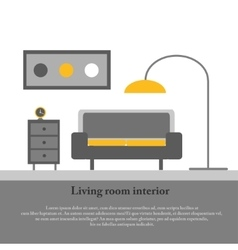 Modern design interior of the living room vector