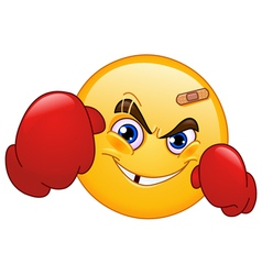 Boxer emoticon vector