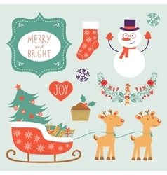 Colorful christmas collection with holiday vector