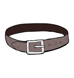 Comic cartoon leather belt vector