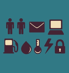 Different industries icon set vector