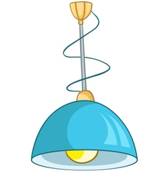 Cartoon home lamp vector