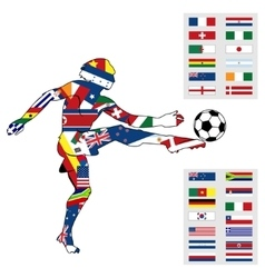 Silhouette figures football player vector