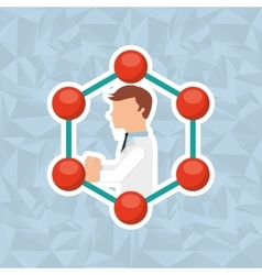 Scientific laboratory design vector