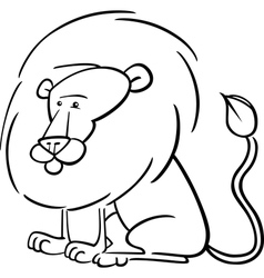 African lion cartoon for coloring vector