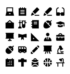 Education school and learning icons 2 vector