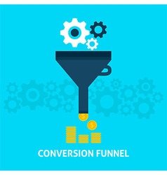 Conversion Funnel Flat Concept vector image
