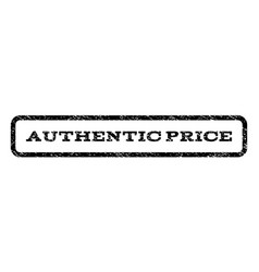 authentic price watermark stamp vector image vector image