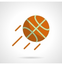 Basketball competition flat color icon vector image