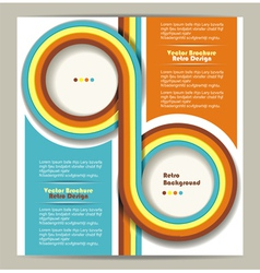 Brochure design retro background vector image vector image