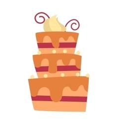 Chocolate cream birthday cake topped pie isolated vector image vector image