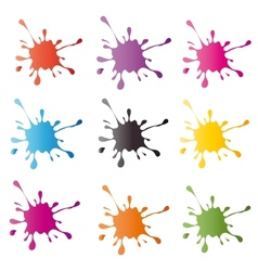 Colored blots on the white background vector