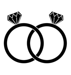 Diamond engagement rings icon image vector