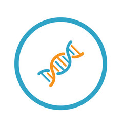 dna and medical services icon flat design vector image