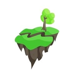 Earthquake icon cartoon style vector