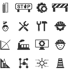 Engineering icons set vector image vector image