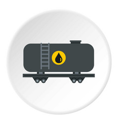 Gasoline railroad tanker icon circle vector