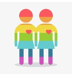 gay couple girl in love vector image vector image