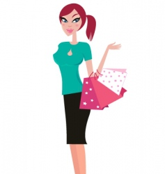 girlk shopping vector image vector image